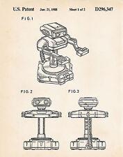 1988 Nintendo Robotic Operating Buddy Retro Merchandise Patent Art Poster R.O.B.