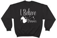 Creo en sueños Unicornio Unisex Jersey De Manga Larga Suéter Sudadera