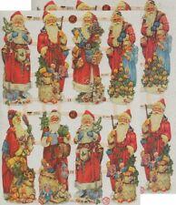 Chromo EF Découpis Père Noël 7379 Embossed Illustrations Santa Claus