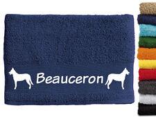 Beauceron 2 Hundemotiv Handtuch Hundehandtuch Hunde mit Namen