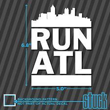 RUN ATL - Vinyl Decal Sticker Atlanta Georgia DMC marathon runner 26.2 13.1