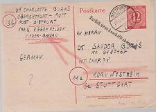 1946 Dietfurt Germany PS Card Cover War Criminal Prison Camp # 78 Kornwestheim