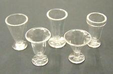 1:12 Scale 2 Tumdee Dolls House Miniature Plastic Ice Cream Sundae Food Glasses