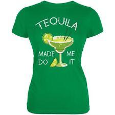 Cinco de Mayo Tequila Made Me Do It Juniors Soft T Shirt