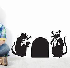 banksy Rats en Trou Art Mural Autocollant Décalque BA30