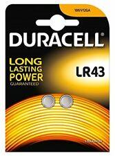 2/4 x Duracell LR43 Alkaline Battery 1.5v Button Coin Cell Batteries AG12 V12GA