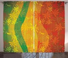Floral Nature Curtains 2 Panel Set Decoration 5 Sizes Window Drapes