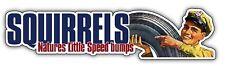SQUIRRELS NATURES LITTLE SPEEDBUMPS car sticker vw rat