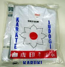 Kabuki KARATE GI SUIT UNIFORME TUTTE LE TAGLIE BIANCO CON CINTURA BIANCA INCLUSA