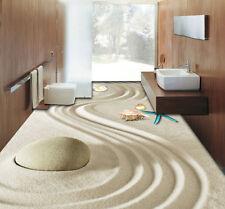 3D Sand Beach Stone Seastar Floor Mural Photo Flooring Wallpaper Home Wall Decal