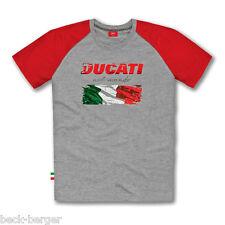 Ducati Flag italia Italy manga corta t-shirt gris rojo nuevo!!!