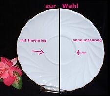 """Schirnding PALLAS uni weiß ~ Untertasse 14,5 cm (z. Wahl: innen mit/ohne """"Ring"""")"""