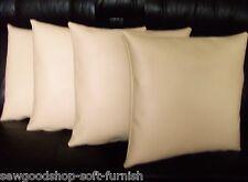 """4 cuscino in finta pelle color crema copre 16"""" 18"""" 20"""" Cuscini a Dispersione"""