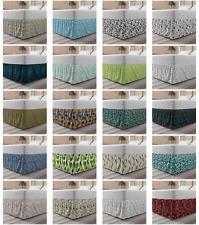 Ambesonne Leaves Forest Bedskirt Elastic Wrap Around Skirt Gathered Design
