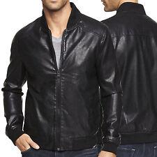 US Men Leather Jacket Hommes veste cuir Herren Lederjacke chaqueta de cuero R54c