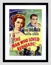 MOVIE FILM Uomo Love le rosse Shearer COMMEDIA Romance FRAMED ART PRINT b12x5537