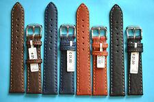 Bufalo in pelle a mano Uhrband 16,18,20,22mm NERO MARRONE BLU MADE IN GERMANY