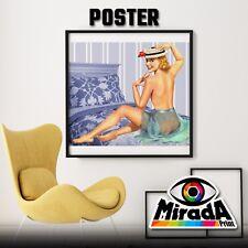 POSTER PIN UP VINTAGE GIRL 1950  RAGAZZA 20 CARTA FOTOGRAFICA 35x35 50x50 70x70