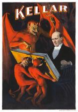 M5 Vintage Kellar Magic Magician Theatre Poster Re-Print A4