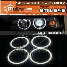 x4 Angel Eyes 60 SMD 3528 LED White Halo Rings Error Free BMW E36 E38 E39 E46 UK
