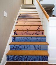 3D Sea Sunset Glow Stair Risers Decoration Photo Mural Vinyl Decal Wallpaper UK