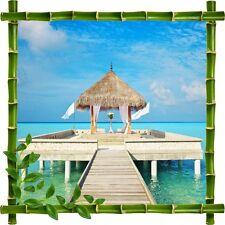 Stickers déco bambou Passerelle Tropiques5217