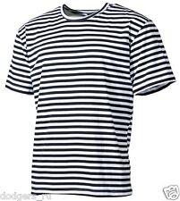 Original Russian Navy Dark Blue Striped Sailor T-Shirt Telnyashka Top Naval