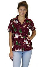 Blusa de Navidad, Camisa de Hawai, Christmas Buddys, Rojo, XS - 6XL