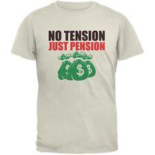 Retirement No Tension Just Pension Natural Adult T-Shirt