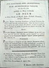 1822 ORAZIONE A FERRARA PER ELEZIONE DELL'ARCIVESCOVO CARDINALE CARLO ODESCALCHI