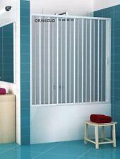 Bathtub Door Enclosure PVC Folding Door Side Opening width 1400 until 1800 mm