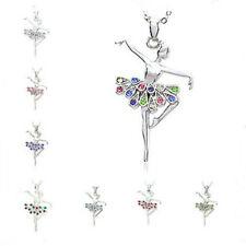 9 styles Dancing Ballerina Dancer Ballet Dance Pendant Necklace Charm Jewelry