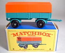 Matchbox RW 02D Mercedes Trailer 2. Gußform top mit Box