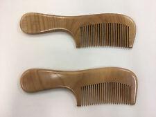 2 x  Natural peach wood comb anti static close teeth hair massage healthy comb