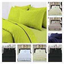 Luxury T-300 100% Egyptian Satin Cotton Duvet Cover/Bedding Set With Pillowcases