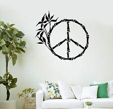 Wall Decal Reed Hippie Yoga Meditation Buddhism Zen Vinyl Stickers (ig3016)