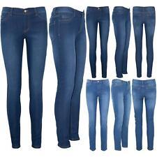 Donna Plain Skinny Slim Stretto Aderente Alla Caviglia Lunghezza Completa Pantaloni Denim Jeans