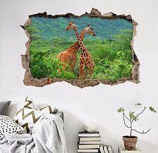 3D Fun Giraffes 396 Wall Murals Wall Stickers Decal Breakthrough AJ WALLPAPER AU