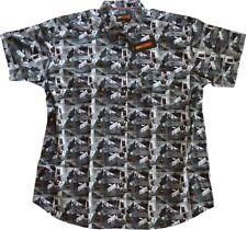 Übergrößen ! Kurzarm Hemd KAMRO mit Halloween-Muster 4XL - 9XL