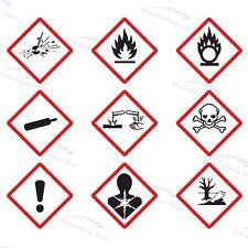 GHS Gefahrensymbole Aufkleber/Etiketten - verschiedene Sorten - 12 bis 48 Stück