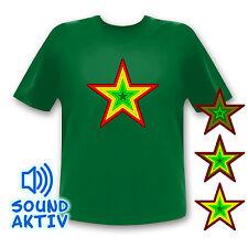Stern LED Equalizer LED T-Shirt Leuchtshirt Blinkshirt Ledshirt Equalizershirt