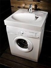 Waschbecken CLARO aus Mineralgussmarmor, poliert Stein Spüle auf Waschmaschine