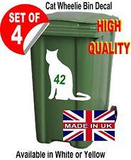 4 x cat wheelie bin numbers