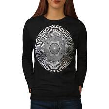 Round Ornament Women Long Sleeve T-shirt NEW | Wellcoda
