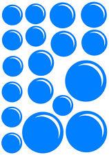 kit Stickers Autocollant Mural - 18 Bulles - 20x29 cm - Réf: A051