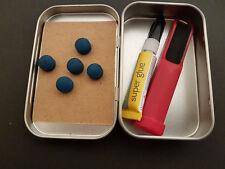 Elk Master Elkmaster Pool Snooker Tipping Kit  Tips  Glue  Sandpaper Tip Shaper
