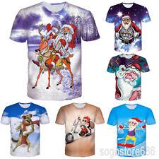 New Christmas Gift Women Men Short Sleeve Casual 3D T-Shirt Xmas Print Tops Tee