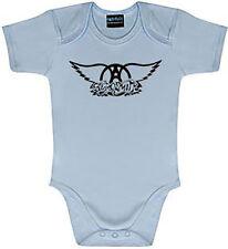 AEROSMITH Logo hellblau Baby Body von Metal Kids