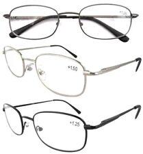 Eyekepper Spring Hinged Reading Glasses 3 Pair Valupac Metal Readers NEW 3 Color