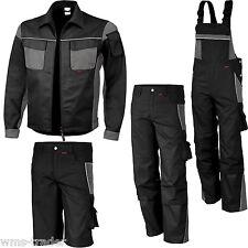 Arbeitslatzhose Arbeitshose Arbeitsjacke Shorts Arbeitsbekleidung schwarz/ grau